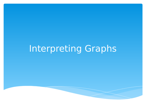 Interpreting Graphs Activity