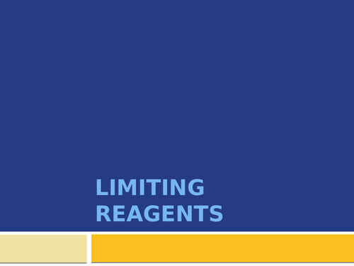 Limiting Reagents AQA