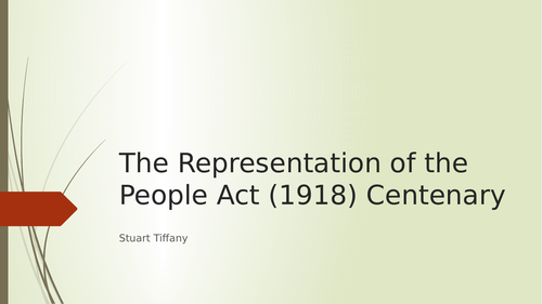Representation of the Peoples Act 1918 Assembly