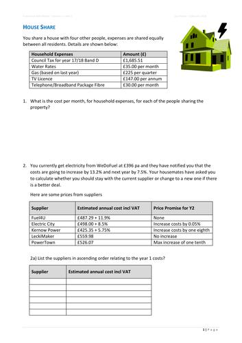 FS Maths L1/L2 House Share