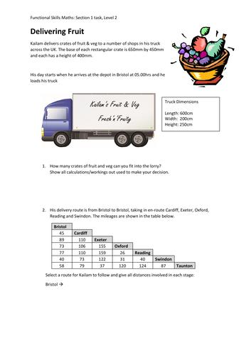 FS Maths L2 - Delivering Fruit