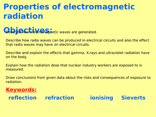 New AQA P6.7 (New Physics GCSE spec 4.6 - exams 2018) - Properties of electromagnetic waves (with RP