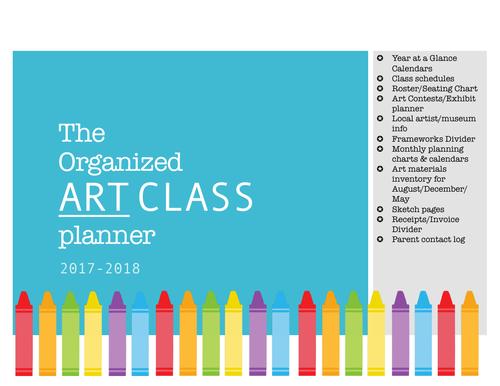 Art Teacher Planner - Crayon themed