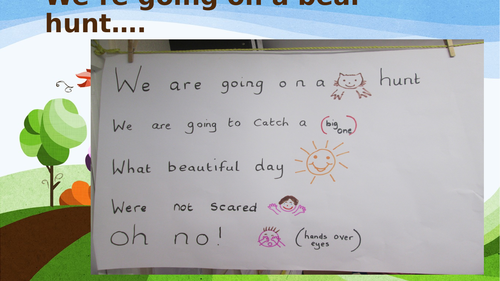 We're going in a bear hunt lesson plan and resources