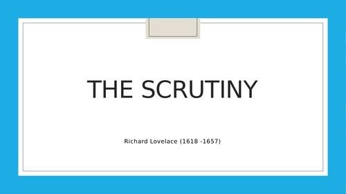 The Scrutiny - Richard Lovelace