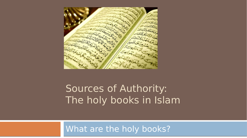 Holy Books and Sacred Texts in Islam