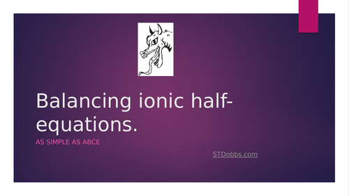 Balancing-ionic-half-equations