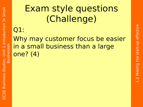 Promotion GCSE Business Outstanding Graded Lesson