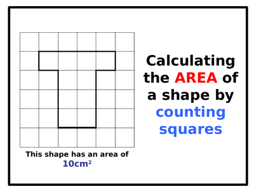 Calculate AREA by counting squares