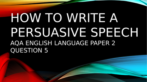 How to write a persuasive speech topic 'Mental Health' GCSE English Language