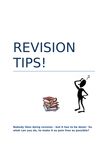 Revision Tips Booklet