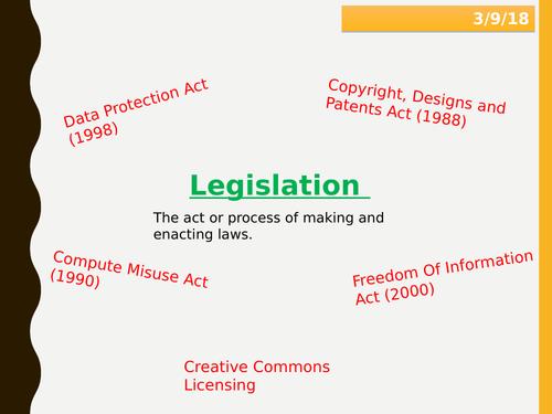 Legislation Lesson