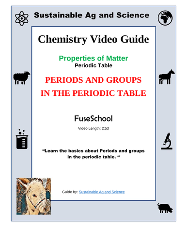 Chemistry Periods And Groups In The Periodic Table Fuseschool By