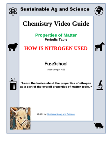 Sustainable ag and science teaching resources tes chemistry how is nitrogen used periodic table fuseschool urtaz Gallery