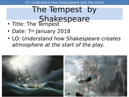 The Tempest Act One Scene One KS3 KS4 Shakespeare