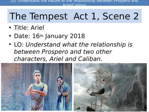 The Tempest Shakespeare Act 1 Scene 2 KS3/KS4