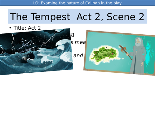 Shakespeare The Tempest Act 2 KS3/KS4