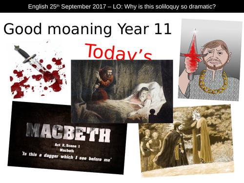 Shakespeare Macbeth Act Scene 1 dagger soliloquy KS4