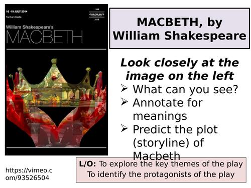 GCSE Macbeth 1st half - AQA Literature Paper 1