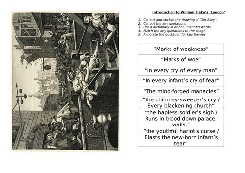William Blake's 'London' - for AQA Literature New Spec