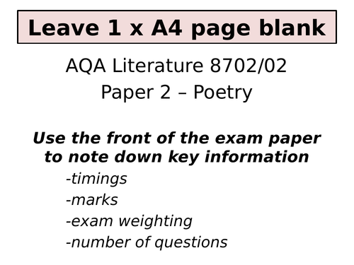 Poppies by Jane Weir - AQA Poetry Conflict Cluster