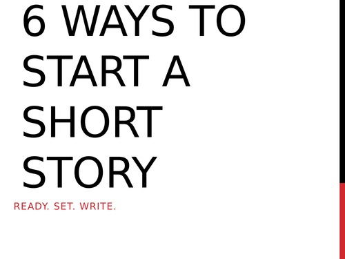 How to start and end a short story