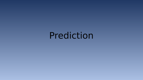 Shared reading - picture prediction
