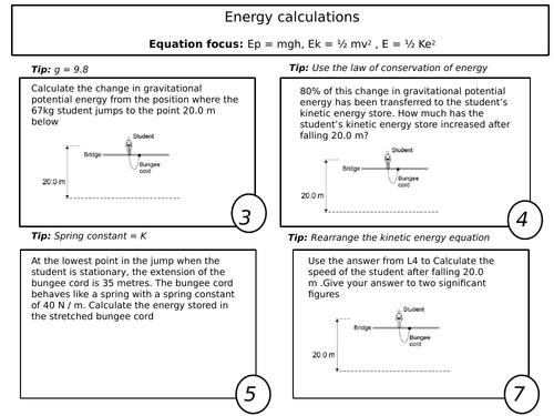New GCSE - Physics Paper 1 Calculations
