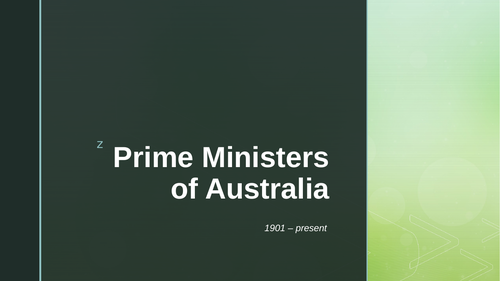 Prime Ministers of Australia PowerPoint