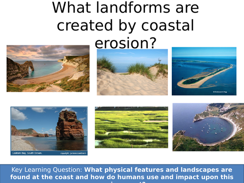 WJEC A 9-1: What landforms are created by coastal erosion?