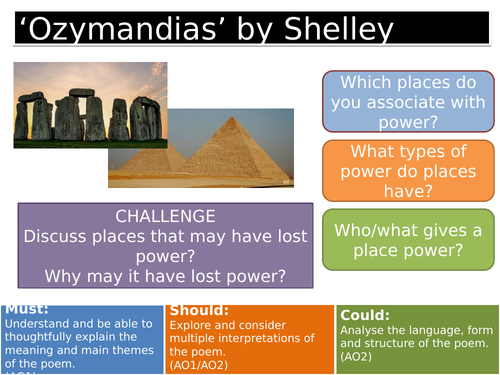 'Ozymandias' by Shelley - AQA Literature, Poetry Conflict Cluster