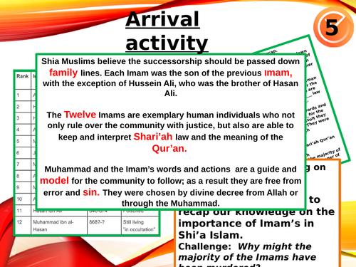 AQA Muslim Practices Ashura