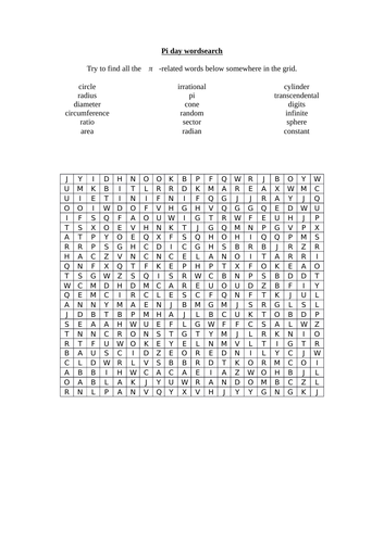 pi day wordsearch by langy74 teaching resources tes