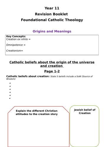 RS Route B Revision Guide - Foundational Catholic Theology