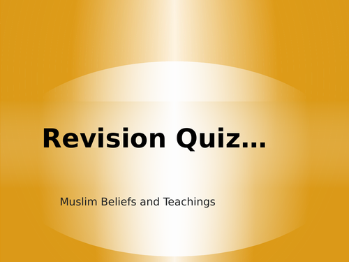 AQA GCSE RS Spec A (1-9) Islam Beliefs and Teachings Assessments