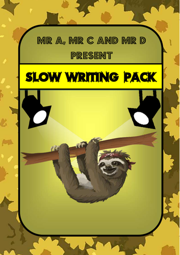 FREE SAMPLE - Slow Writing Primary Pack
