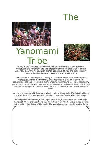 The Yanomami Tribe