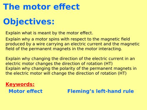 New AQA P7.3 (New Physics GCSE spec 4.7 - exams 2018) - The motor effect + Fleming's left-hand rule
