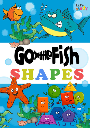 GO FISH game. Shapes