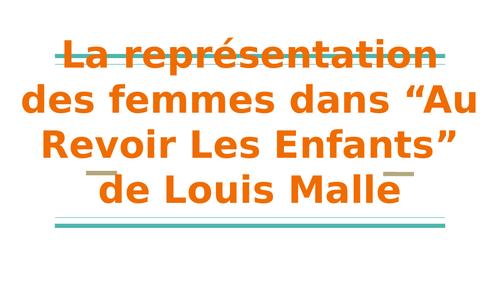Le rôle et l'importance des femmes dans Au Revoir Les Enfants de Louis Malle