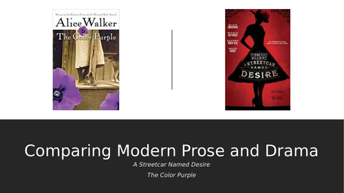 Thematic Comparisons: A Streetcar Named Desire and The Color Purple