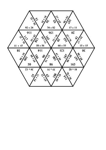 Maths Tarsia Puzzle: addition
