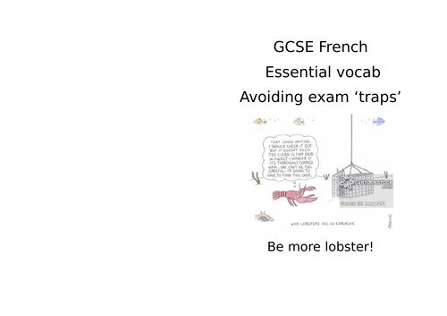 GCSE French  - avoiding exam traps, listening and reading