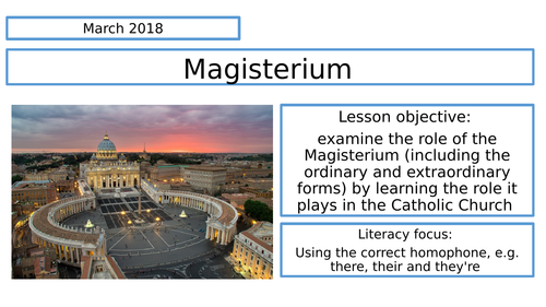 The Magisterium, Eduqas, GCSE.
