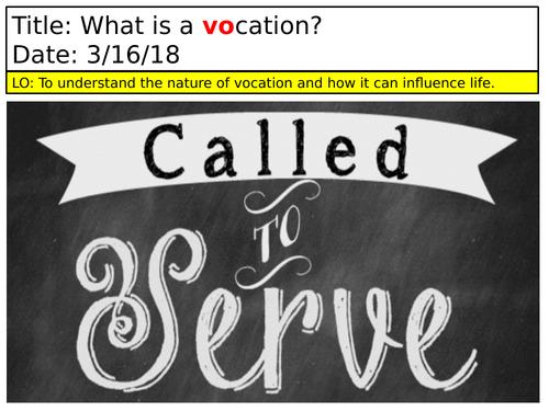 Vocations- Scheme of work