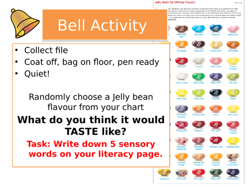Sensory Testing Lesson for Food Technology