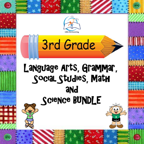 Whiteboard 3rd Grade Language Arts | Grammar | Math | Social Studies | Science