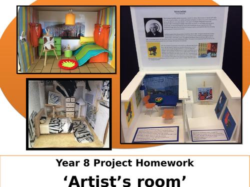 Artist Inspired Room Design - Homework Project