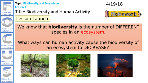 NEW AQA Biology Trilogy Biodiversity and Human Activity