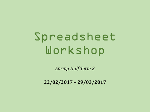 Spreadsheets Overview